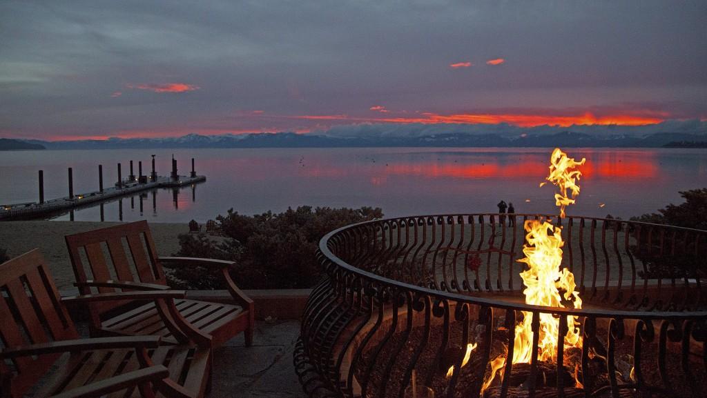 Fireplace waterfront