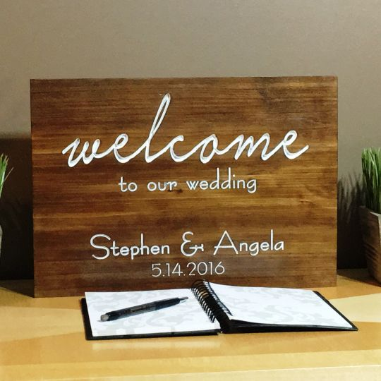 Welcome to Our Wedding: benchmarksignsandgifts.com
